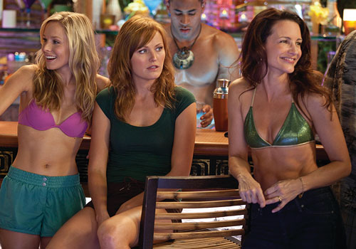 Kristen Bell, Malin Ackerman, & Kristin Davis - bikinis at the bar - in Couples Retreat
