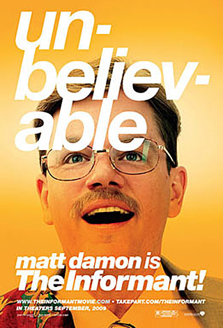 The Informant! movie poster - Matt Damon
