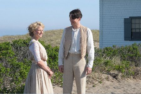 Mamie Gummer and Tom Wisdom on Cape Cod in The Lightkeepers