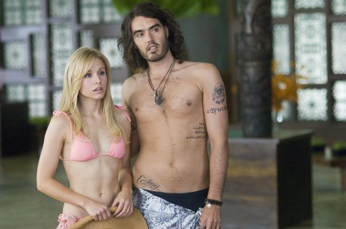 Kristen Bell in a bikini, Russell Brand from Forgetting Sarah Marshall