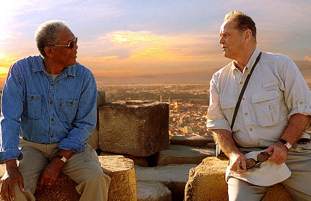 Morgan Freeman, Jack Nicholson in The Bucket List