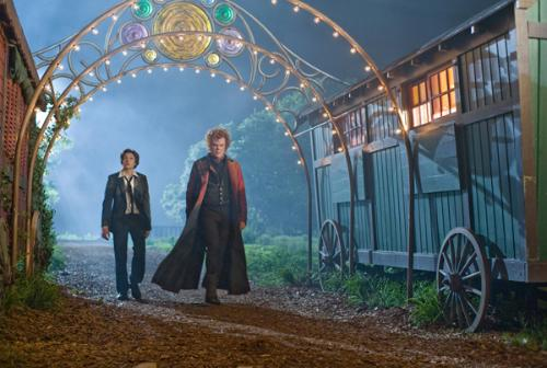 and vampire John C Riley enter the grounds of Cirque du Freak