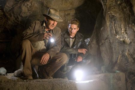 Harrison Ford as Indiana Jones - Shia Lebeuf as Henry