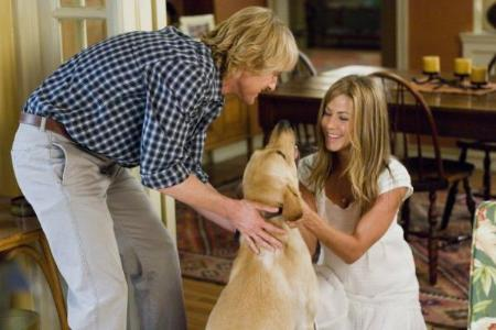 Owen Wilson, Jennifer Aniston, and Marley - Markey & Me