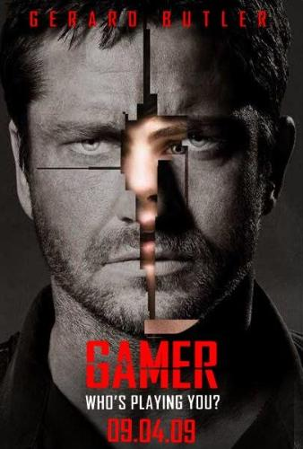 Gamer movie poster - Gerard Butler